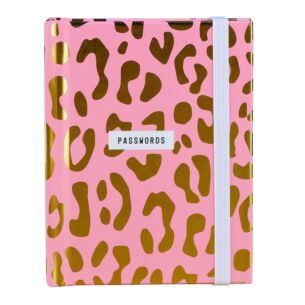 Really Good Pink Leopard Print Password Book