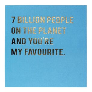Cloud Nine 7 Billion People Card