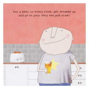 Rosie Made A Thing 'Guys Pub Crawl' Lockdown Card