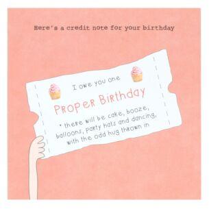'Birthday Credit' Lockdown Birthday Card