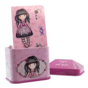 Gorjuss Sugar and Spice Trinket Tin with Sticker Roll