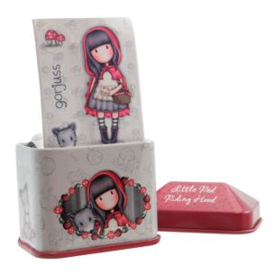 Little Red Riding Hood Trinket Tin with Sticker Roll