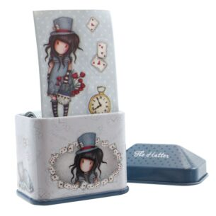 The Hatter Trinket Tin with Sticker Roll