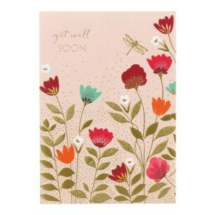 Sara Miller Dragonfly Get Well Soon Card