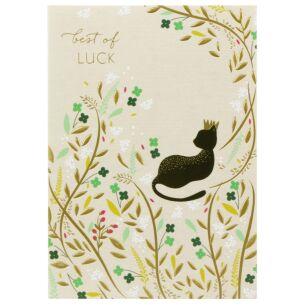 Best Of Luck Cat Card