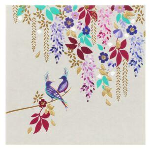 Purple Birds & Foliage Card