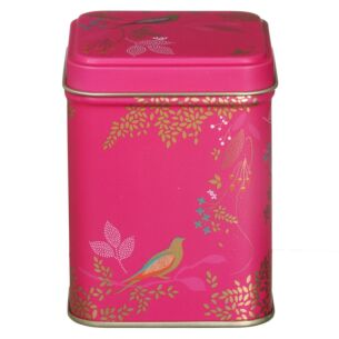 Square Pink Birds Tin