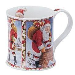 Seasons Greetings Santa Wessex shape Mug