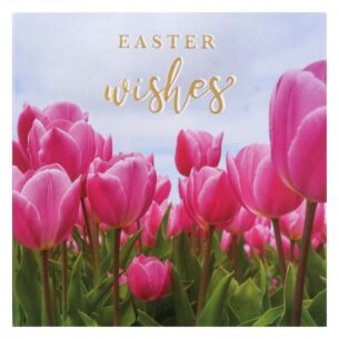 'Pink Tulips' Easter Card
