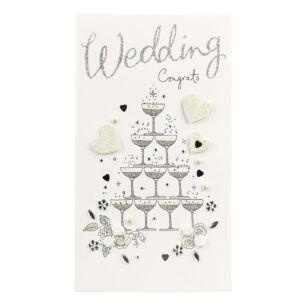 Second Nature 'Congrats…' Champagne Wedding Card