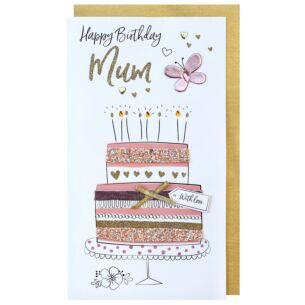 Second Nature Glitter Cake 'Mum' Birthday Card