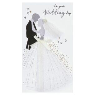 'On Your Wedding Day' Bride & Groom Wedding Card