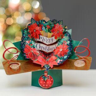 Wreath Pop Up Christmas Card