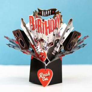 'Birthday Rock' 3D Pop Up Card