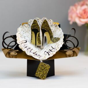 Birthday Girl Shoes Pop Up Card
