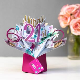 '21st Birthday' Bubbly 3D Pop Up Card