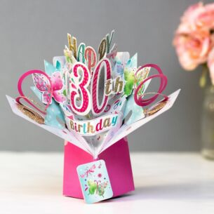 '30th Birthday' Butterflies 3D Pop Up Card