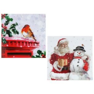 Winter Wonderland 'Robin / Santa & Snowman' Box of 8 Christmas Cards