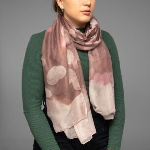Pink Dancing Hearts Scarf
