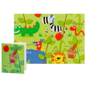 Simon Elvin Safari Animals Gift Wrap