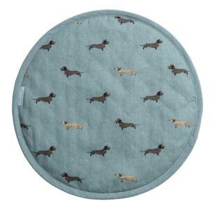 Dachshund Circular Hob Cover