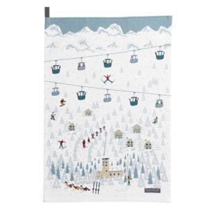 Skiing Tea Towel