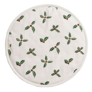 Sophie Allport Christmas Holly & Berry Circular Hob Cover