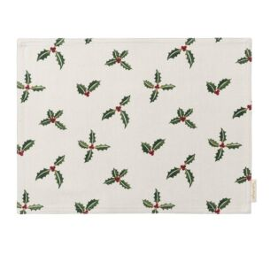 Sophie Allport Christmas Holly & Berry Fabric Placemat