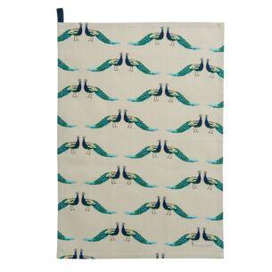 Peacocks Tea Towel