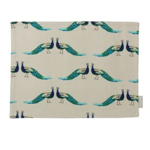 Peacocks Fabric Placemat