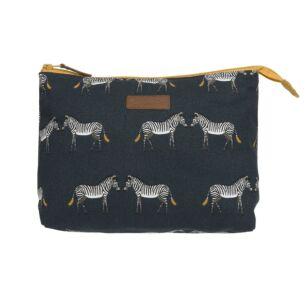 ZSL Zebra Canvas Wash Bag