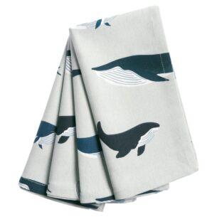 Whales Set Of Four Napkins