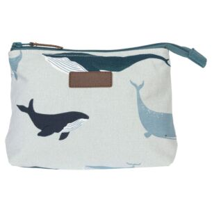 Whales Canvas Makeup Bag