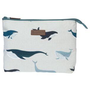 Whales Canvas Wash Bag