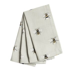Bees Set of Four Napkins