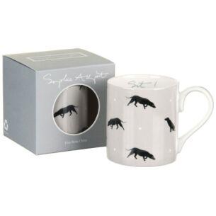 Sit! Black Labrador Coloured Mug