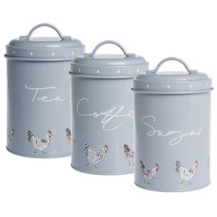Sophie Allport Chicken Set of 3 Storage Tins