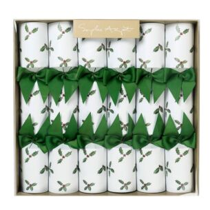 Holly Set of 6 Christmas Crackers