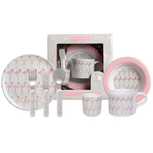 Flamingos Children's Melamine Set