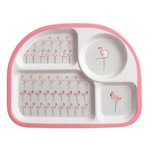 Flamingos Children's Melamine Divider Plate