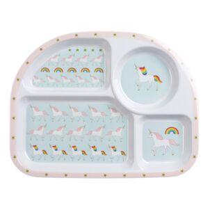 Sophie Allport Unicorns Children's Melamine Divider Plate