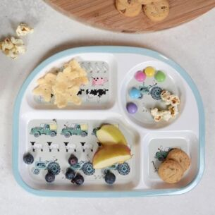 On The Farm Children's Melamine Divider Plate