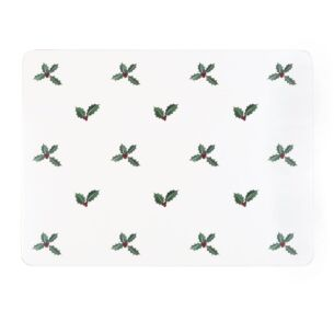 Sophie Allport Christmas Holly & Berry Set of 4 Placemats