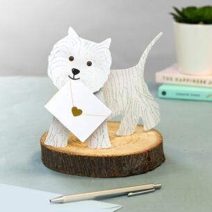 Bonnie Dog 3D Greetings Card