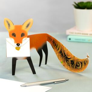 Foxy 3D Greetings Card