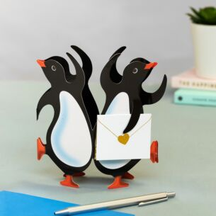 Party Penguins 3D Greeting Card