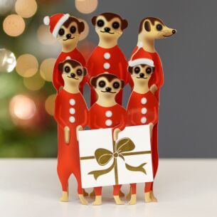 Santa Kats 3D Christmas Card