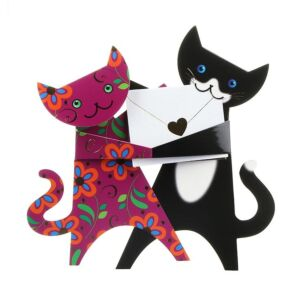 Dancing Cats Greetings Card