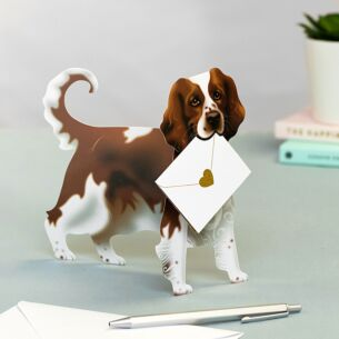 Bramble Dog 3D Greetings Card