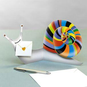 L'Escargot The Snail 3D Greeting Card